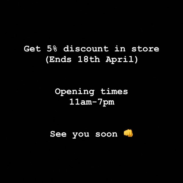 We just want to say a massive thank you for everyone supporting us through this pandemic. 👊  Tomorrow we are all finally allowed to enjoy ourselves again and we can't wait to show you what we have for summer 2021!🔥🔥  We also have an extra 5% discount in store to enjoy on your 1st week back shopping 🛍🛒