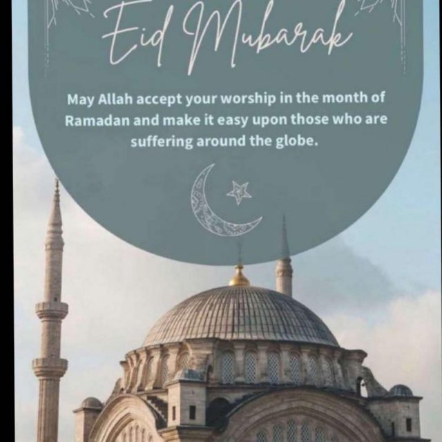 May Allah accept your worship in the month of Ramadan and make it easy upon those who are suffering around the globe.   Eid Mubarak to everyone 🎉